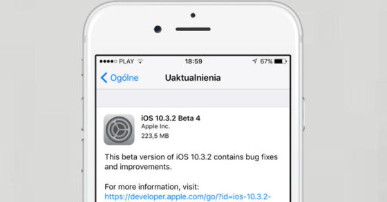 Apple iOS 10.3.2 beta 4