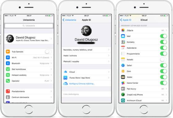 Apple iOS 10.3 błąd iCloud