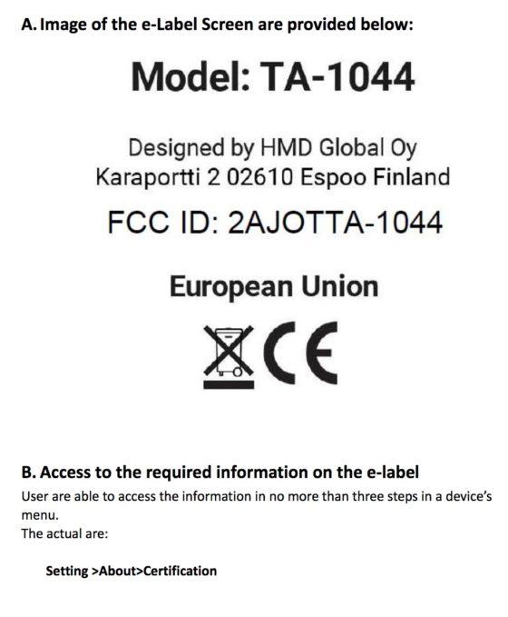 Nokia 5 dual SIM FCC