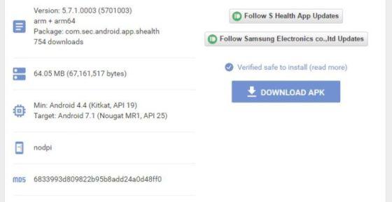 Samsung Galaxy S8 Android 7.1 Nougat