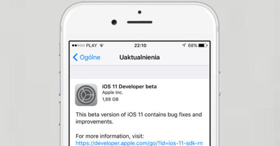 Apple iOS 11 beta 1