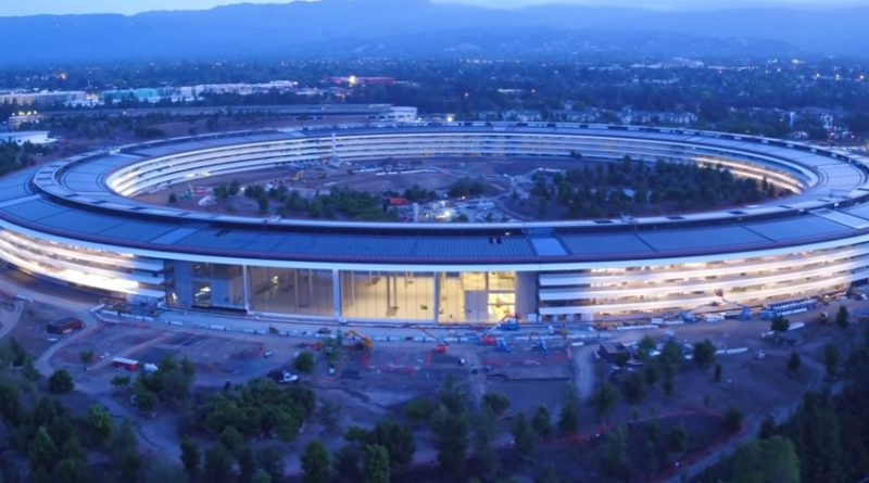 apple park nocą