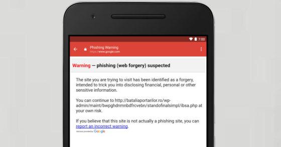 Gmail Phishing Android Google