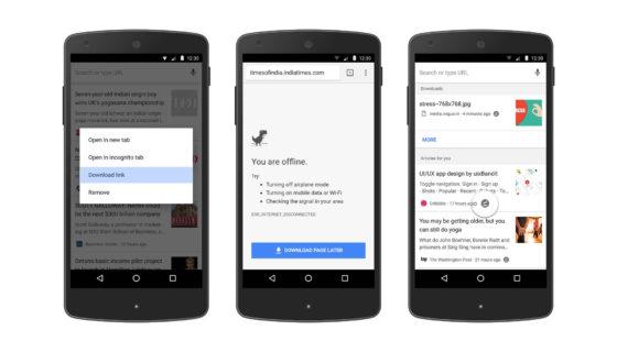Google Chrome Android pobieranie stron