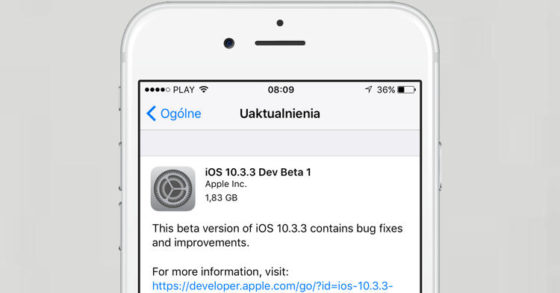 Apple iOS 10.3.3 beta 1 nowe tapety