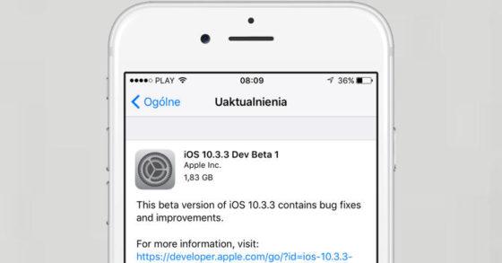 Apple iOS 10.3.3 beta 1 nowe tapety