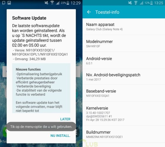 Samsung Galaxy Note 4 Galaxy note Edge majowe poprawki bezpieczeństwa