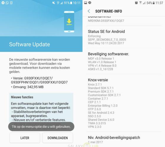 Samsung Galaxy S7 aktualizacja Android OTA majowe poprawki bezpieczeństwa