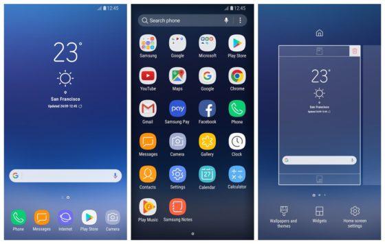Samsung Galayx S8 launcher TouchWiz
