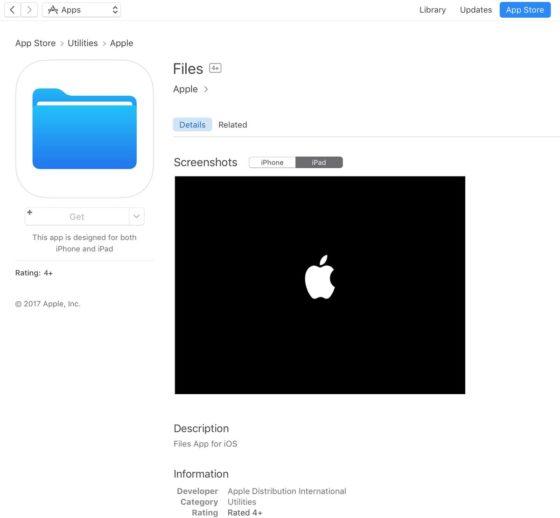 Apple App Store Files iOS 11