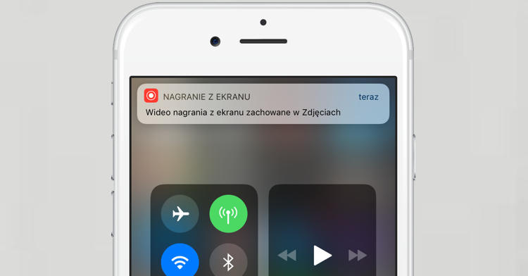 Apple ioS 11 beta 1 nagrywanie ekranu iPhone
