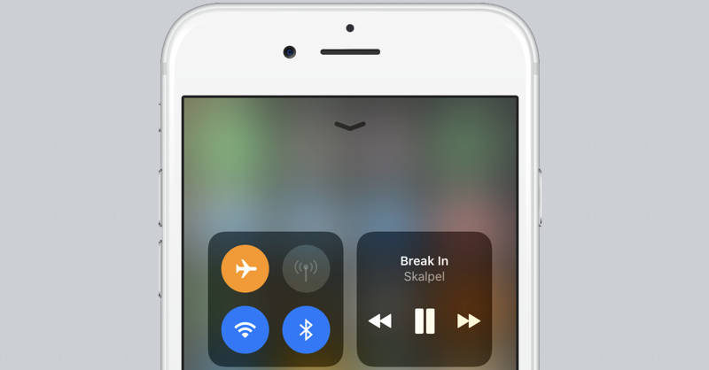 iOS 11 tryb samolotowy
