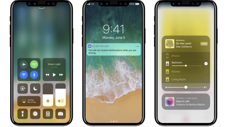 Apple iPhone 8 iOS 11 koncept