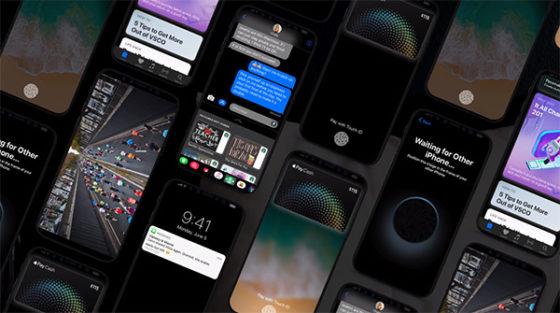 iPhone 8 iOS 11 koncept wizualizacja