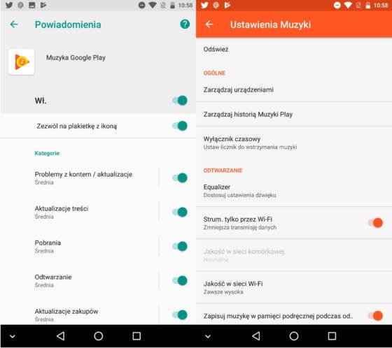 Muzyka Google Play 7.9 Android O