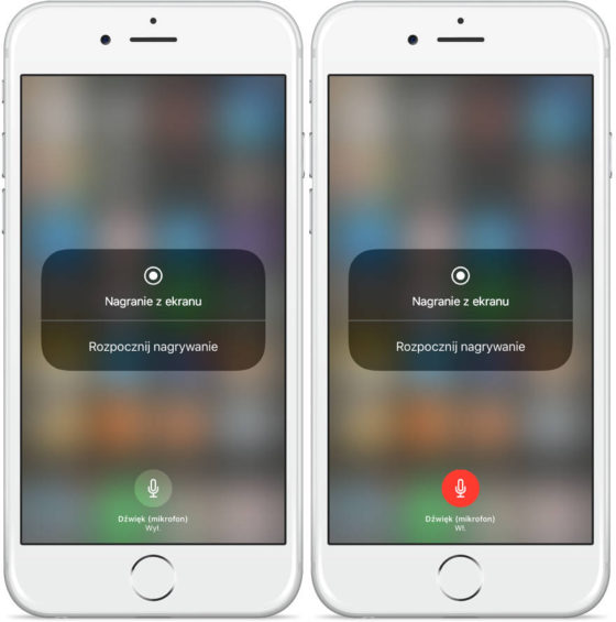 nagrywanie ekranu iPhone