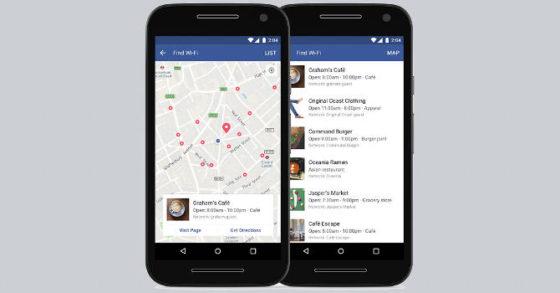 Facebook Znajdź sieć Wi-Fi Find Wi-Fi