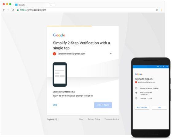 google weryfikacja dwuetapowa
