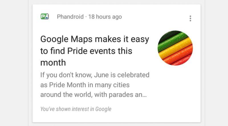 Google Now okrągłe ikony