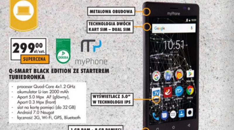 myPhone Q-Smart Black Edition smartfon z Biedronka