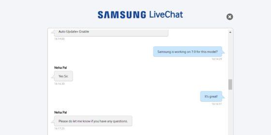 Samsung Galaxy A5 (2015) aktualizacja OTA Android 7.0 Nougat