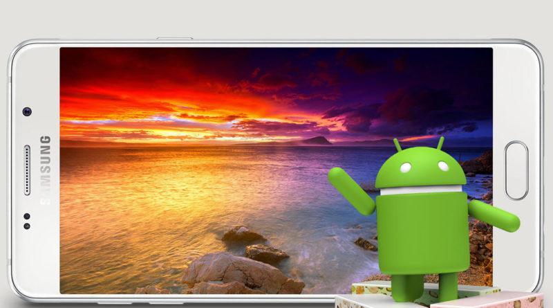Samsung Galaxy A5 2016 aktualizacja OTA Android 7.0 Nougat Play