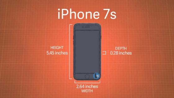 iPhone 7s wymiary