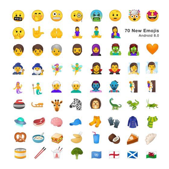 Android 8.0 Oreo emoji 5.0