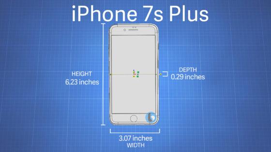 iPhone 7s Plus wymiary