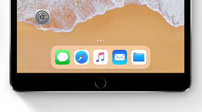 iPhone 8 iOS 11 dock iPad