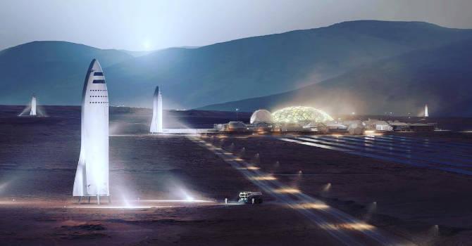 Elon Musk SpaceX Mars kosmos