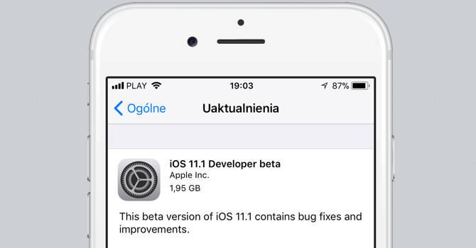 iOS 11.1 beta 1
