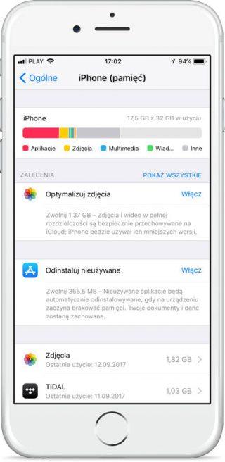 iOS 11 usuwanie aplikacji