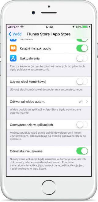 iOS 11 zwalnianie miejsca