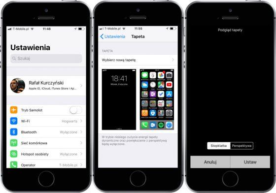 Wyłączanie perspektywy w iOS 11