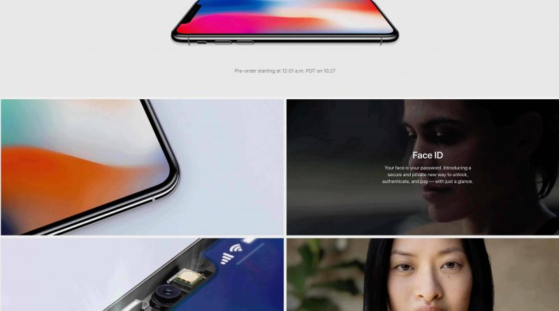 iPhone X Apple.com