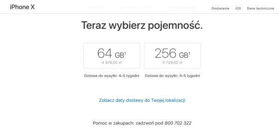 przedsprzedaż iPhone X