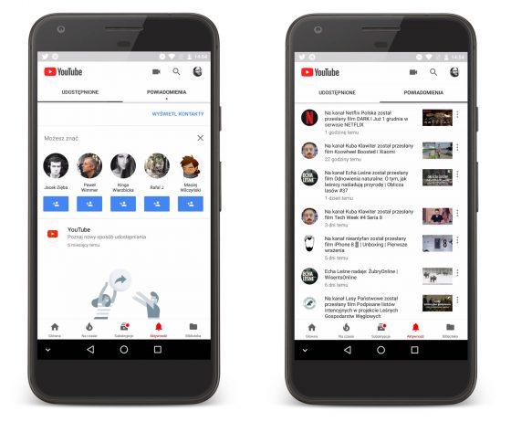 YouTube Android Aktywność