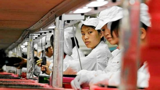 Apple iPhone X Chiny Foxconn studenci