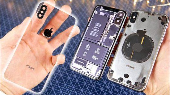 iPhone X przezroczysta obudowa