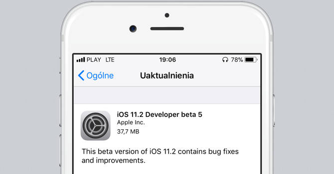 Apple iOS 11.2 beta 5