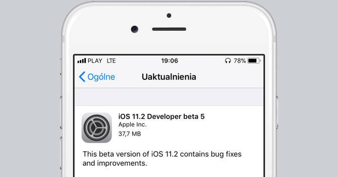 Apple iOS 11.2 beta 5