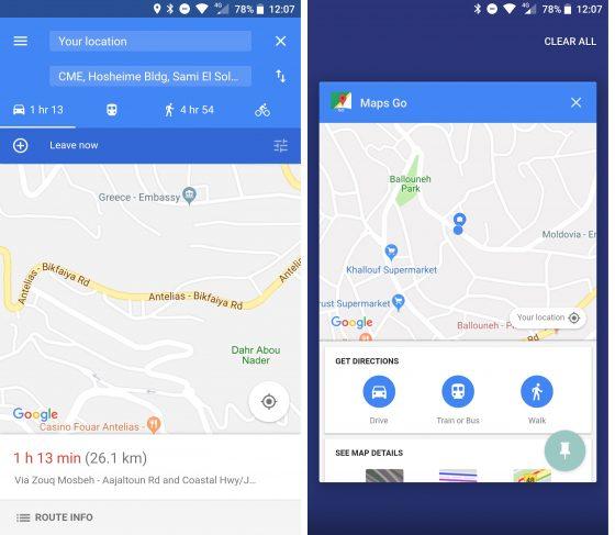 mapy google go