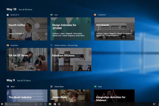 Windows 10 Redstone 4 Timeline