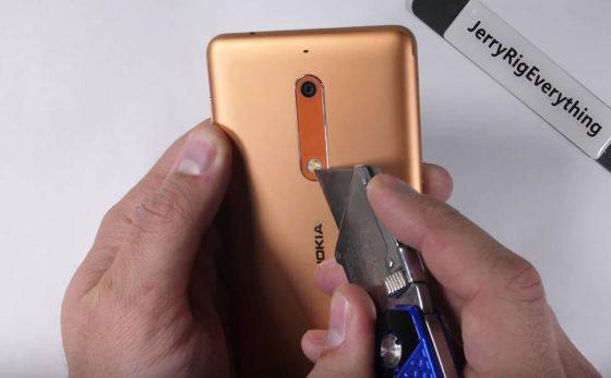Nokia 5 wytrzymałość