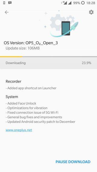 OnePlus 5 rozpoznawanie twarzy