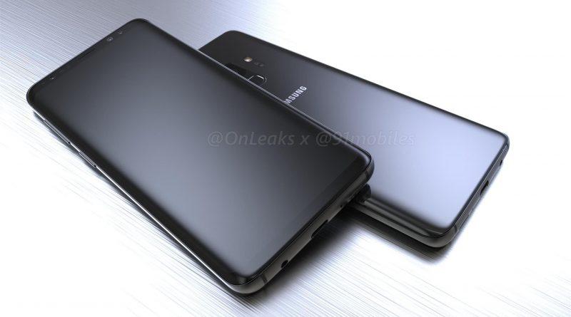 Samsung Galaxy S9 rendery Onleaks