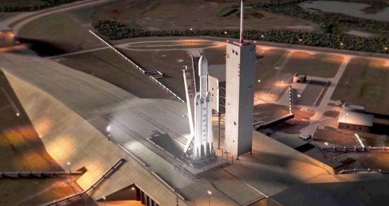 SpaceX Falcon Heavy Tesla Roadster Mars