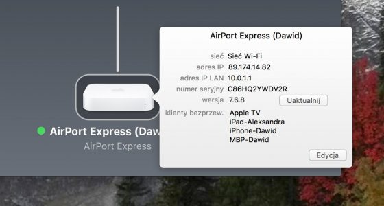 Apple AirPort Express aktualizacja firmware poprawka KRACK Blueborne