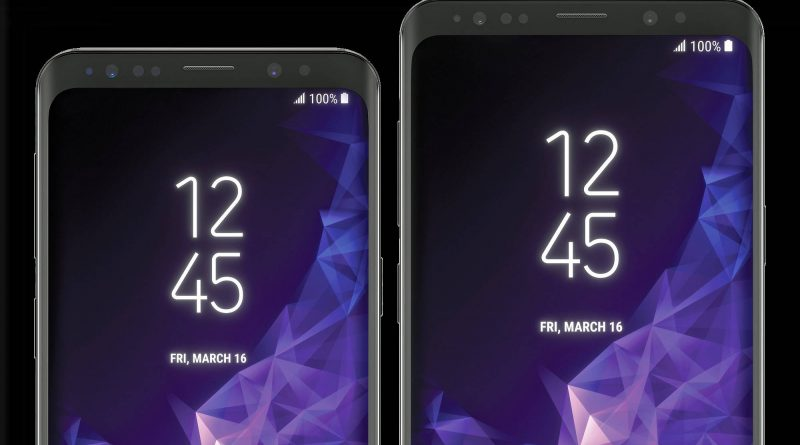 Samsung Galaxy S9 rendery